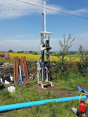 Hydraulic Water Well Drilling Rig Machine Trailer Rods Pump Business Bargain