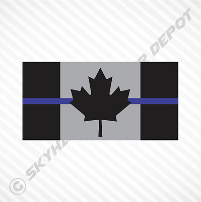 Subdued Canadian Flag Thin Blue Line Sticker Vinyl Decal Police Law Enforcement