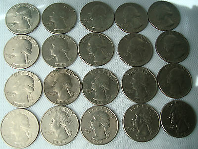 Washington Quarters 25 Cents USA Coin United States of America US