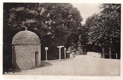 LOVELY OLD POSTCARD - BLIND HOUSE - SHREWTON - nr SALISBURY - WILTSHIRE  C.1925