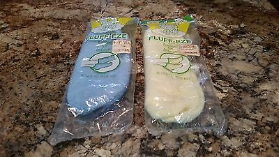 Vintage Booties Socks Soft Fluffy Acrylic Nylon Size 9-11 Womens  Set of Two NEW