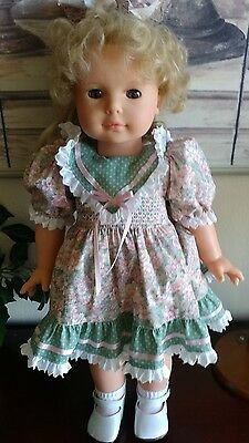 "Vintage GOTZ Puppe Vinyl Doll 21"" Handcrafted 1990s Made in Germany blonde hair"