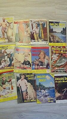 Vintage Anglers Digest Fishing Mags 1958 all 12 issue's