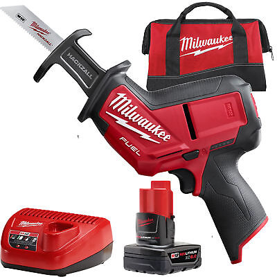 M12 FUEL HACKZALL Recip Saw w/ 4.0, 6.0Ah Batts Milwaukee 2520-21XC New