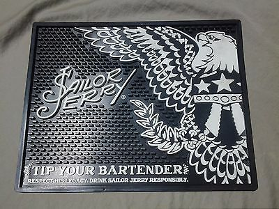 Sailor Jerry Bar Mat - Spiced Rum Spill Mat - Tip Your Bartender