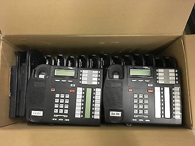 Norstar and Nortel Networks Lot of Office Phones and Mounting Brackets, Handsets