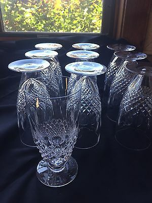 Waterford COLLEEN- Set of 10- Ice Tea / Water Glasses- Perfect! Signed *RARE*