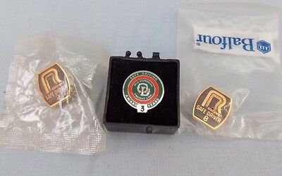 Lot of  3 Safe Driver Driving Pins Roadway & Old Dominion Trucking  Lapel Pin