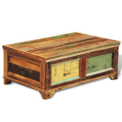 Large Solid Wooden Chest Trunk Storage Box Coffee Table Vintage Style Handmade
