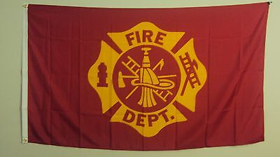 New 3' by 5' Fire Department Flag. Free Shipping in Canada!