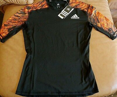 ADIDAS Men's Climalite Short Sleeve Compression Athletic Shirt Size (M)