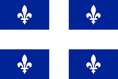 New 3' by 5' Quebec Flag. Free Shipping in Canada!