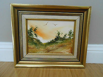 Original Signed Gold Framed Oil Painting by Jim Crofts