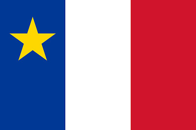 New 3' by 5' Acadian Flag. Free Shipping inside Canada!
