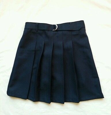 New Girls School Uniform Skirt with sewn in shorts, Navy, Size 16