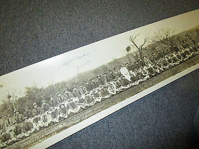 WWI 67th AERO SQUADRON B BROOKS FIELD 1918 LONG PANORAMIC PICTURE PHOTO 45 IN