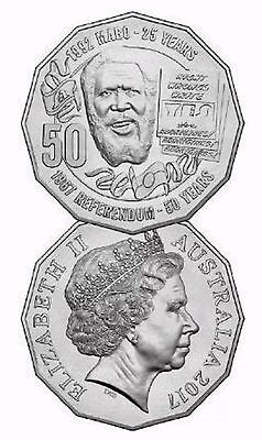 2017 50c (fifty Cent) Pride And Passion Mabo Circulating Coin UNC 1 Coin
