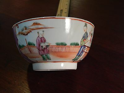 Antique Chinese Export or English New Hall Famille Rose Waste Bowl 18th/19th C
