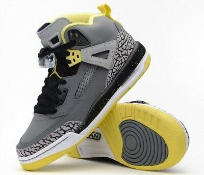 Nike Air Jordan Spizike Size Boys 6 1/2 Black/Yellow Basketball Shoes Sneakers