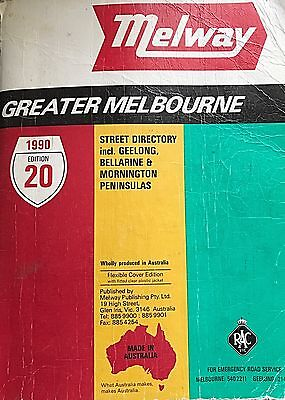 1990 Edition 20 Melway  Greater Melbourne Street Directory