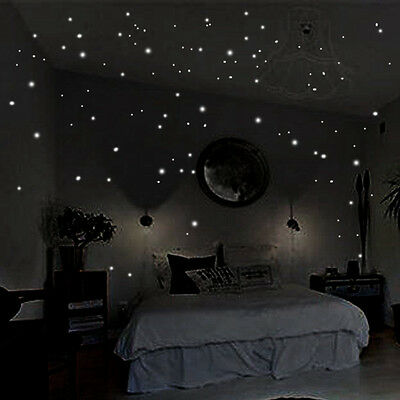 Glow In The Dark Room Decor.Glow In The Dark Star Wall Stickers 407pcs Round Dot