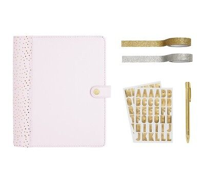 Kikki K Large Pink Lavender Leather Personal Planner Gift Set A5