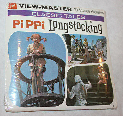 B322 Pippi Longstocking SEALED 1971 viewmaster GAF reels views book vintage mip