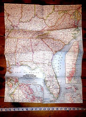 January 1958 Southeastern United States National Geographic Map