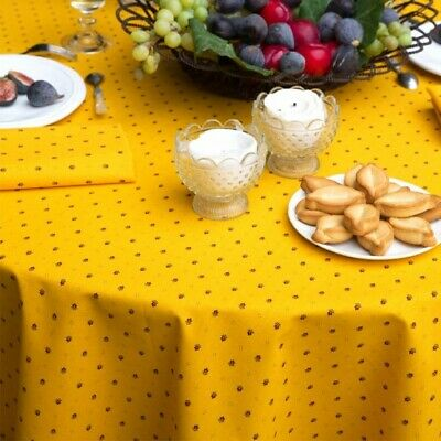 "100% COTTON NON COATED LOT OF 3 x 72"" ROUND FRENCH TABLECLOTHS MIX MATCH OK NEW!"