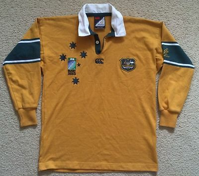 Australia Wallabies Rugby Union Jersey Canterbury Size 12 Years Poly Cotton VGC