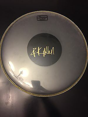 Rick Allen Signed 18 Inch Drumhead Def Leppard 2017 Rare !