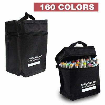Touch New Marker Pen 160 Color Set Graphic Animation Art Sketch Twin Point+ Gift