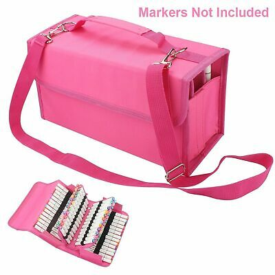 Marker Pen Case Bag Storage Carrying 80 For Touch Five Copic Markers Art Layer