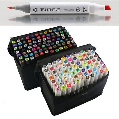 Touch New Markers Pen 80 Color Set Graphic Art Sketch Twin Tips Fine Point Broad