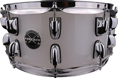 Crystal Frosted Acrylic Acoustic Snare Drum 14x6
