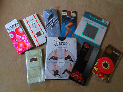 Vtg Lot 9 prs Mixed Stockings Tights inc Aristoc St.Michael Pretty Polly Charnos