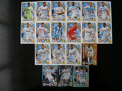 PANINI ADRENALYN XL FOOT 2016-2017 - MARSEILLE EQUIPE 19 cartes