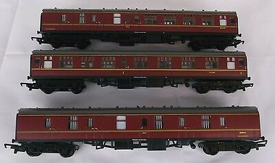 Hornby OO Gauge BR Maroon MK1 Eastern Region Coaches x 3. Mint Condition.