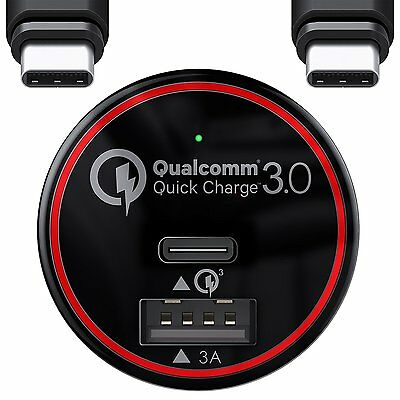 BC Master Fast Car Charger + Type-C USB Cable - Samsung Galaxy S7 S8 Plus Others