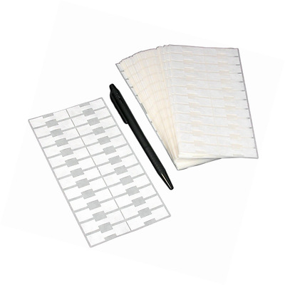 """1000 Jewelry Sticker Price Tags Square Barbell Labels 1 3/8"""" x 1/2"""""""
