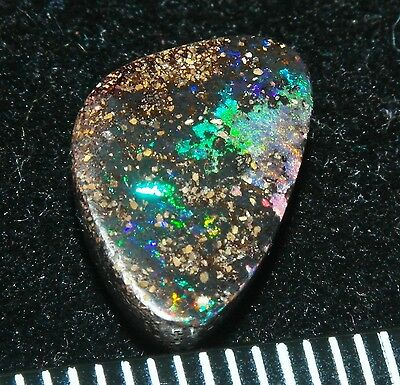 #Opalumia# Solid Boulder Koroit Opal blue/green fires patterns opale 4.75ct cab