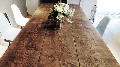 Pine Wooden  Handmade in England Rustic Reclaim Wooden  Dining Table