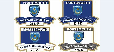 Portsmouth Rare  2017 League Two  Champions Limited Edition Any Colour Badge