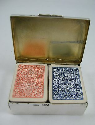 Solid Silver Miniature Playing Cards Case / Box  HM London 1901 by Grey & Co