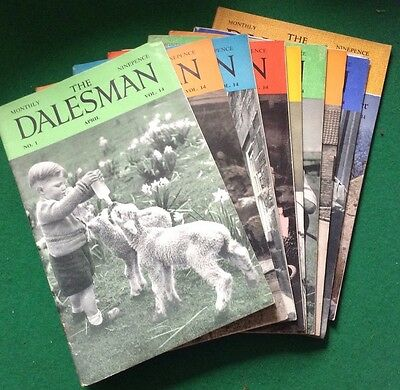 The Dalesman Magazine - Joblot of 9 Issues - 1952 - Clapham, Yorkshire