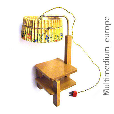 Lampe mit Beistell tisch für Puppen stube 30s 50s lamp with table for doll house