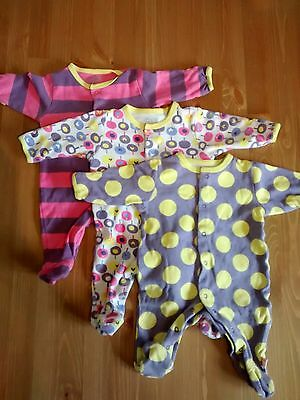 Girls Mamas & Papas newborn up to 1 month bundle of sleepsuits