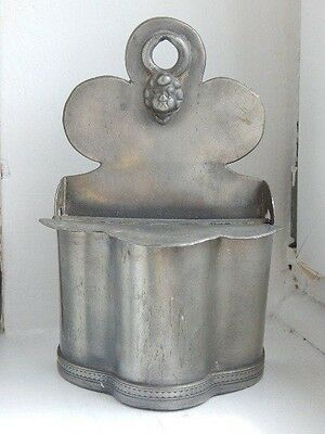 Fine and rare antique pewter salt box -perhaps 18th century