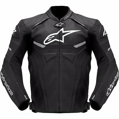 New Alpinestar Motorbike Racing Hand Made Leather Jacket With CE Protections