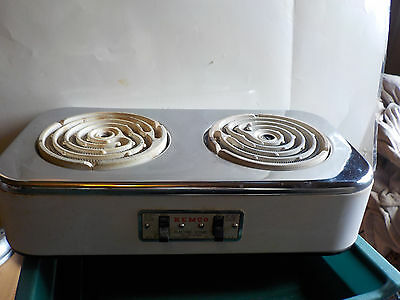 Electric Stove Kemco 2  Places Made Usa 115 Volts High- Med Usa  Cat 14-200